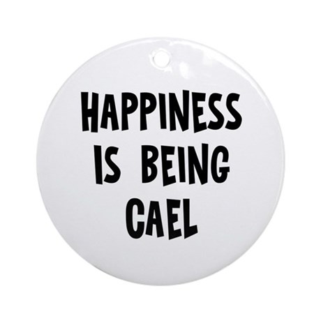 Happiness is being Cael Ornament (Round)
