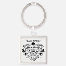 Custom Family Reunion Square Keychain