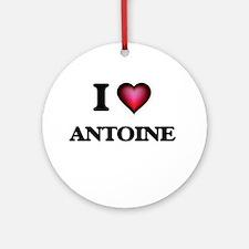 I love Antoine Round Ornament