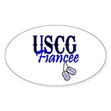 USCG Fiancee Dog Tag Oval Decal