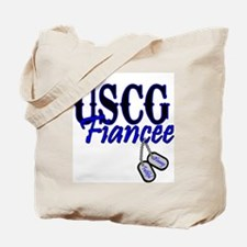 USCG Fiancee Dog Tag Tote Bag