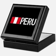 Peru: Peruvian Flag & Peru Keepsake Box