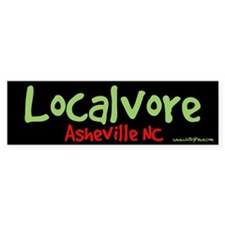 Localvore Asheville Bumper Bumper Sticker