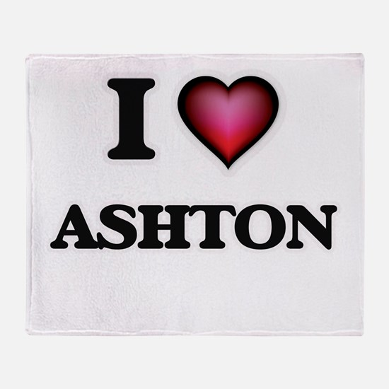 I love Ashton Throw Blanket