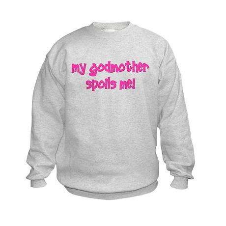 My Godmother Spoils Me! pink Kids Sweatshirt
