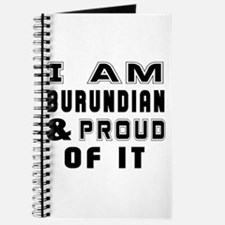 I Am Burundian And Proud Of It Journal