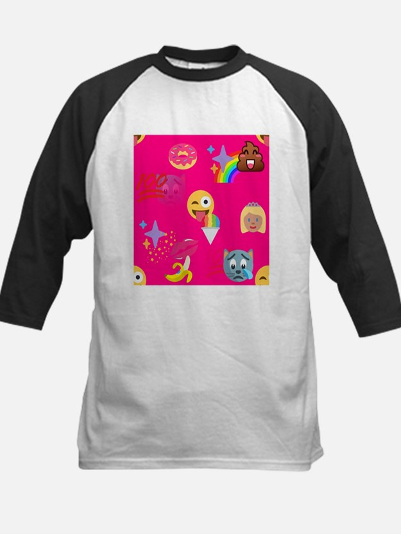hot pink emoji Baseball Jersey