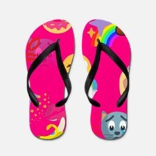 hot pink emoji Flip Flops