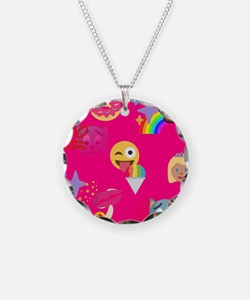hot pink emoji Necklace