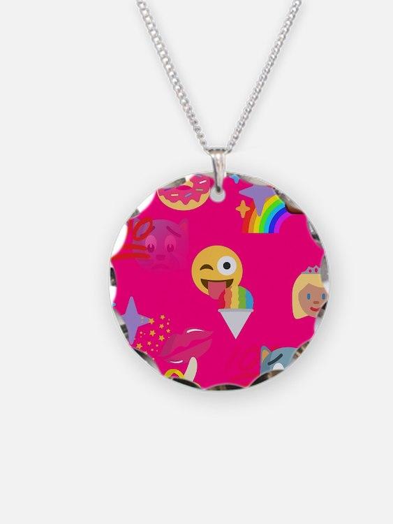 hot pink emoji Necklace
