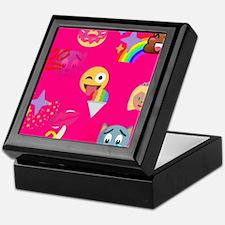 hot pink emoji Keepsake Box