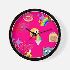 hot pink emoji Wall Clock