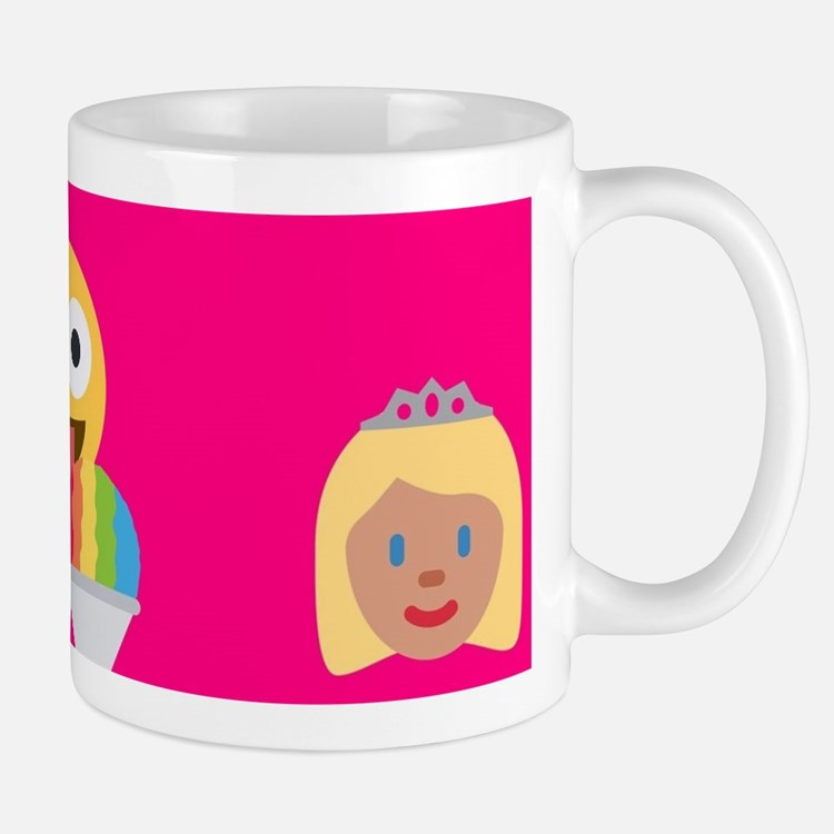 hot pink emoji Mugs