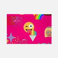 hot pink emoji Magnets