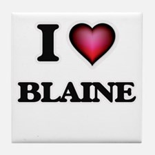 I love Blaine Tile Coaster