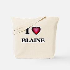 I love Blaine Tote Bag