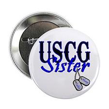 "USCG Sister Dog Tag 2.25"" Button"