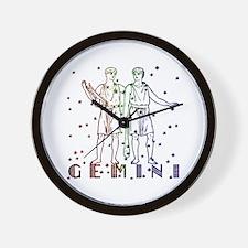GEMINI SKIES Wall Clock