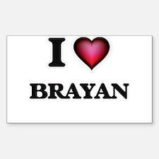 I love Brayan Decal