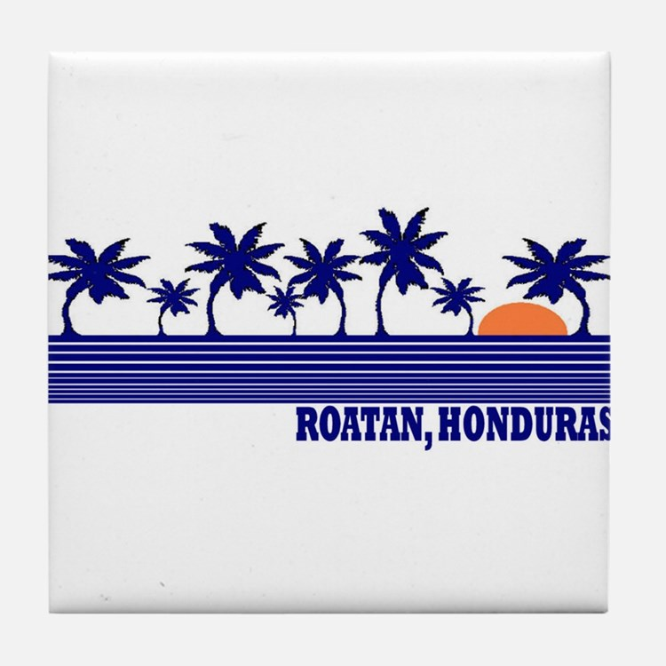 Roatan, Honduras Tile Coaster