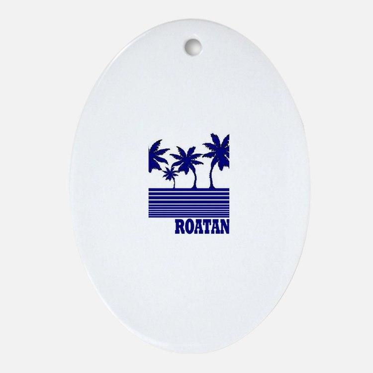 Roatan, Honduras Oval Ornament