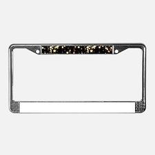 falling stars License Plate Frame