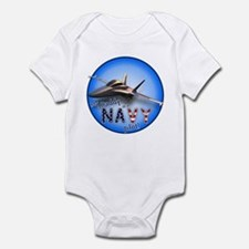 Daddy Navy Pilot (F-18)bc Infant Bodysuit