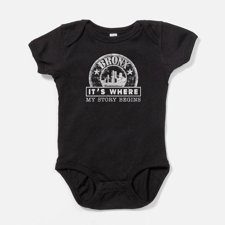 Bronx Born Shirt Baby Bodysuit