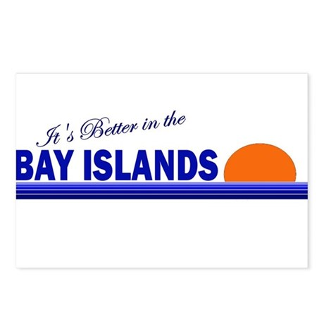 Its Better in the Bay Islands Postcards (Package o
