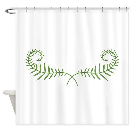 fern leaves shower curtain