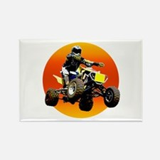 ATV Racing to Sunset Rectangle Magnet