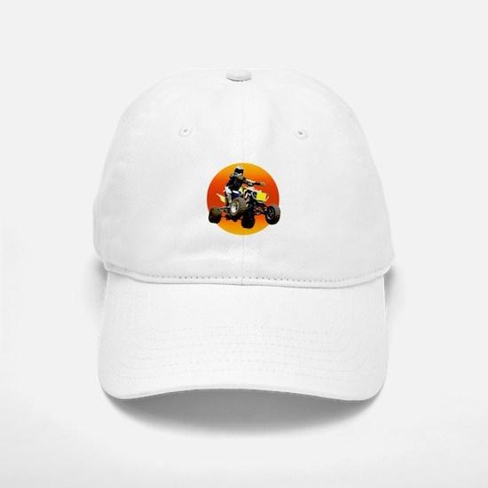 ATV Racing to Sunset Baseball Baseball Cap