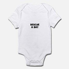rescue a bat Infant Bodysuit