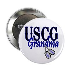 "USCG Grandma Dog Tag 2.25"" Button (10 pack)"