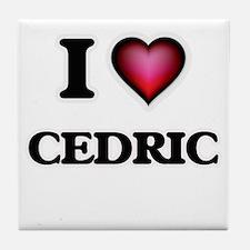 I love Cedric Tile Coaster