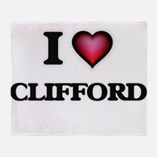 I love Clifford Throw Blanket