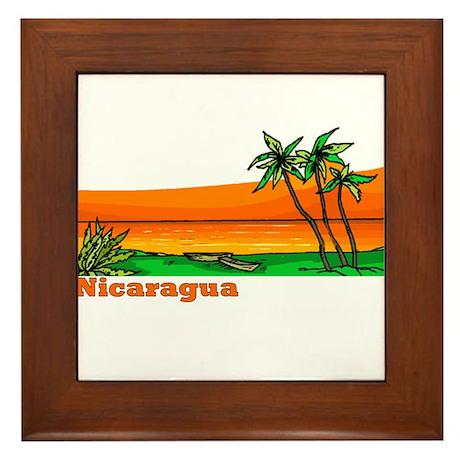 Nicaragua Framed Tile