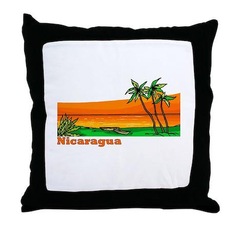 Nicaragua Throw Pillow