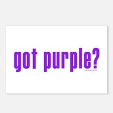 got purple? Postcards (Package of 8)