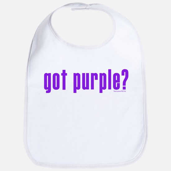 got purple? Bib