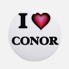 I love Conor Round Ornament