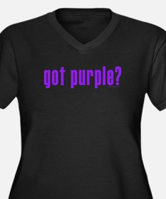 got purple? Women's Plus Size V-Neck Dark T-Shirt