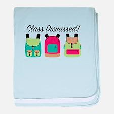 Class Dismissed baby blanket