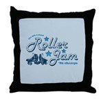 Roller Jam Throw Pillow
