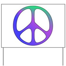 Classic Rainbow Peace Sign Yard Sign