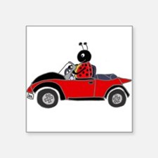 Ladybug Driving Bug Sticker
