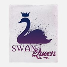 Funny Swan Throw Blanket