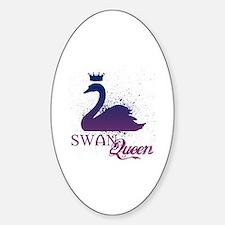 Unique Swans Sticker (Oval)