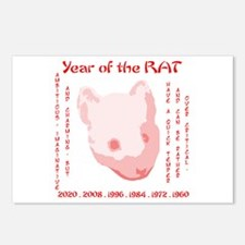 Year of the Rat Postcards (Package of 8)