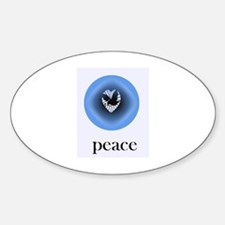 Wings of Peace Oval Decal